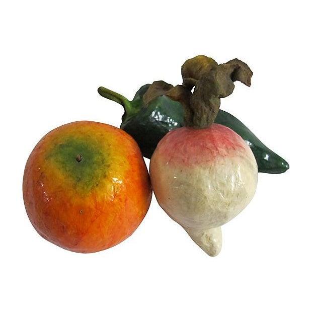 Papier-Mâché Vegetables - Set of 3 - Image 2 of 4
