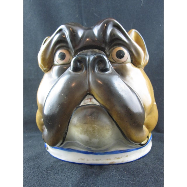 English Staffordshire Bulldog Covered Porcelain Jar - Image 3 of 9