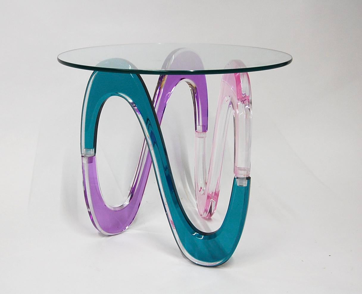 Haziza Memphis Style Multi Colored Lucite Side Table   Image 2 Of 11