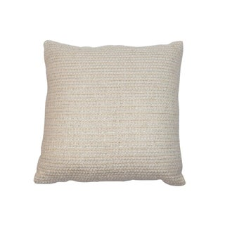Vintage Cream & Metallic Pillow