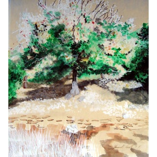 Sunlit Tree Plein Air Landscape Painting
