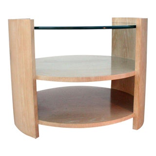 Large Cerused Oak Occasional Table by Jay Spectre