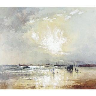 Robert Howey Sunrise Clam Digging Watercolor