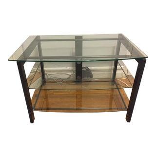 Conran's Metal Frame & Glass Shelves Media Table