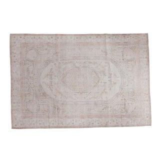 "Distressed Oushak Carpet - 6'10"" X 10'1"""