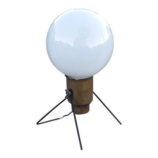 Mid-Century White Bulb Table Lamp