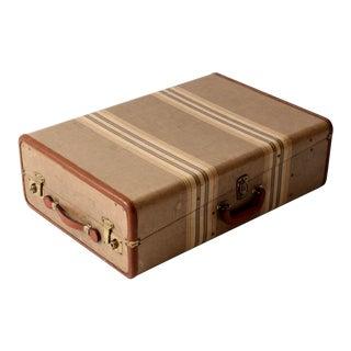 Vintage Striped Wardrobe Suitcase
