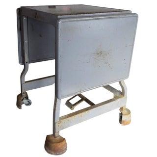 Industrial Drop Leaf Table Workbench on Locking Wheels