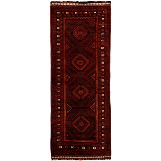 "New Tribal Hand Knotted Runner - 3'10"" x 10'5"""