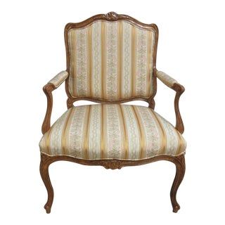 Vintage French Carved Louis XV Chair