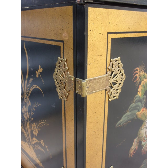 Vintage Asian Style Cabinet With Brass Hardware - Image 11 of 11