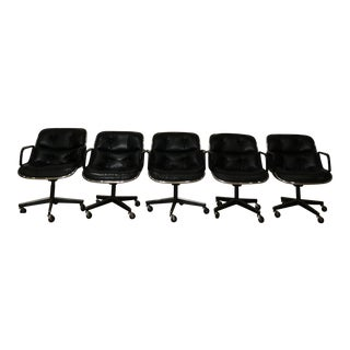 Knoll Charles Pollack Executive Armchairs - Set of 5