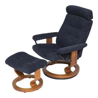 Vintage Teak Ekornes Chair and Ottoman