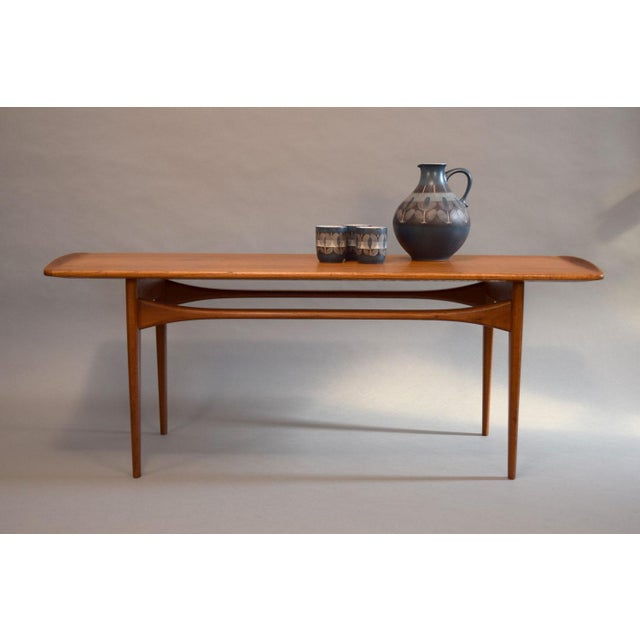 Tove edvard kindt larsen for france daverkosen solid teak coffee table chairish Solid teak coffee table