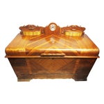 Image of Art Deco Cedar Chest W/ Clock