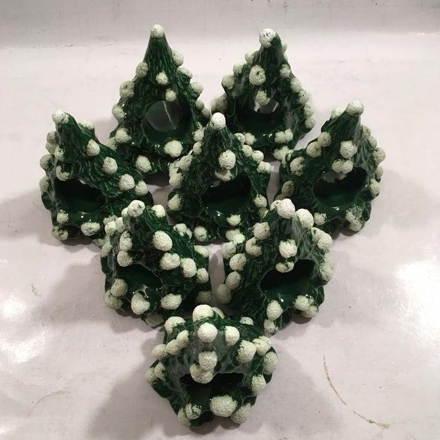 Image of Vintage Christmas Tree Napkin Rings - Set of 8