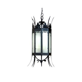 Wrought Iron Octagonal Lantern with Spikes