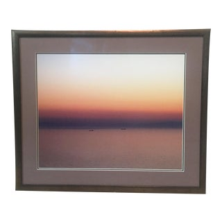 """Sounion Sunset"" Framed Photograph"