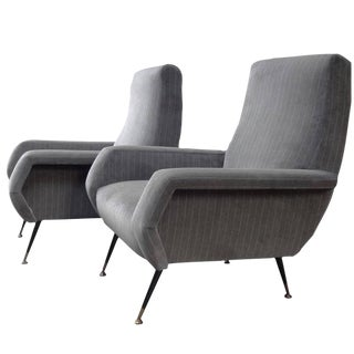 Marco Zanuso Pair of Mid-Century Club Chairs Italy circa 1955