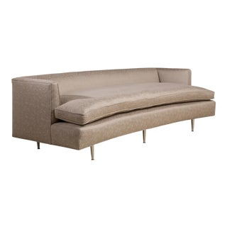 A Harvey Probber Style Curved Upholstered Sofa 1950s