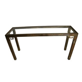 Mastercraft Mid-Century Brass Sofa/Console Table