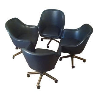 Ward Bennett Bumper Conference Chairs - Set of 4