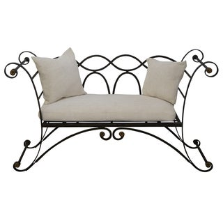 Maitland Smith Regency Style Iron & Brass Settee