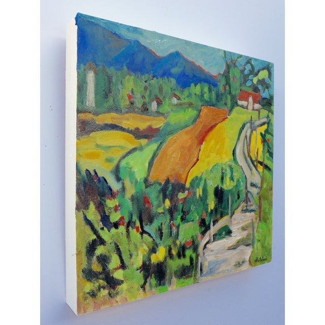 Swiss Farm in Summer Plein Air Painting - Image 5 of 6