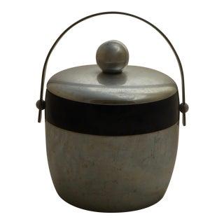 Mid-Century Modern Aluminum Ice Bucket