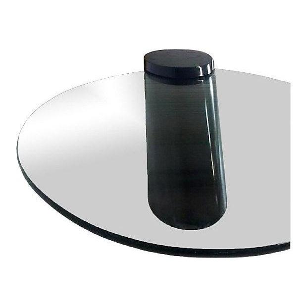 Zephyr-Style Black Cylinder Base Coffee Table - Image 6 of 6