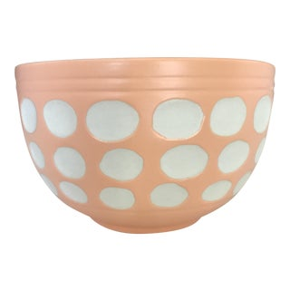 Peach Dot Bowl
