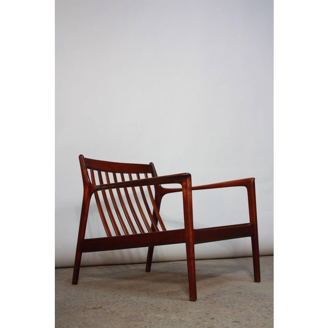 Image of Danish Modern Lounge Chair in Velvet and Teak