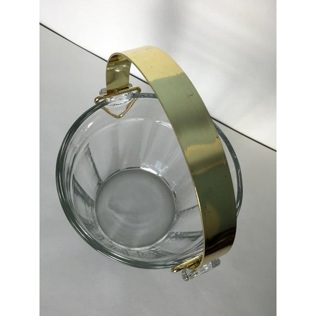 Vintage Glass & Brass Ice Bucket - Image 6 of 6