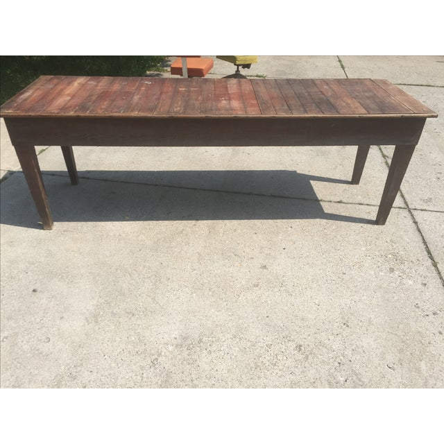 Antique Farmhouse Dining Table - Image 3 of 4