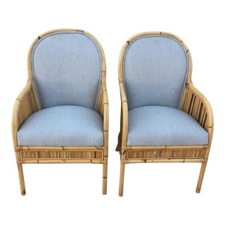 Boho Henry Olko Bamboo Arm Chairs- A Pair