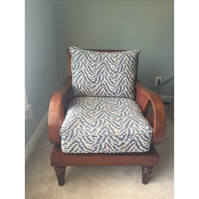 Curved Arm Cherry Chair - Image 2 of 3