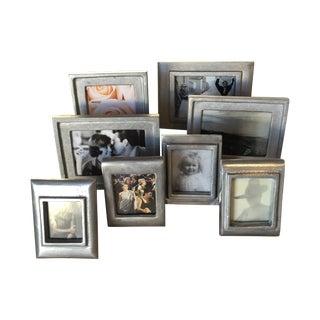 Vintage Metal Picture Frames - Set of 8