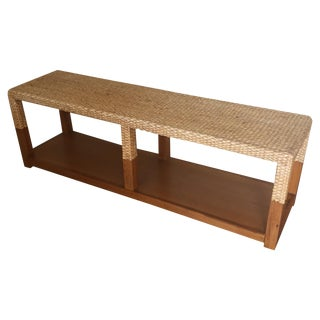 Seagrass & Wood Console Bench