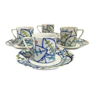 Japanese Tea Cups and Saucers - Set of 4