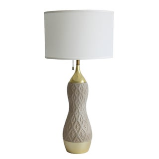 Gerald Thurston Lightolier Ceramic Table Lamp
