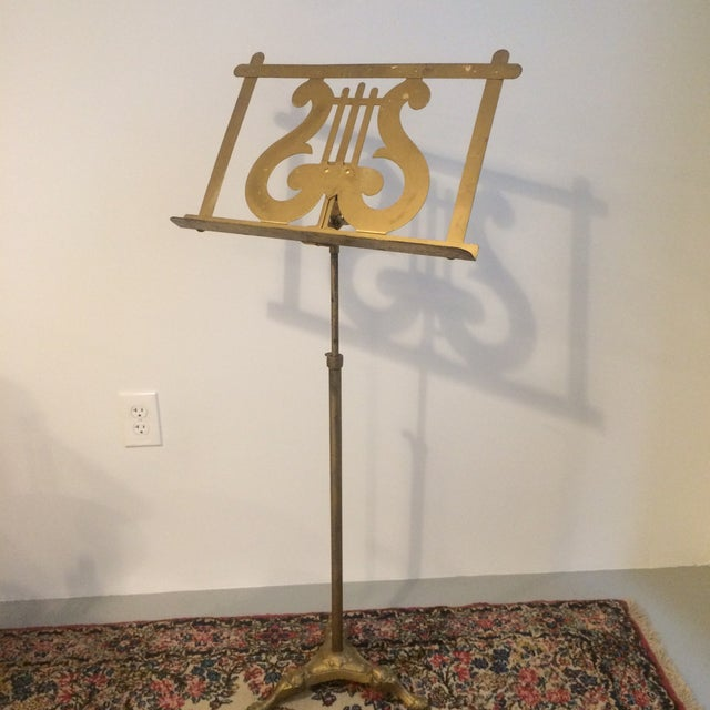 Image of Vintage Neoclassical Brass Music Stand