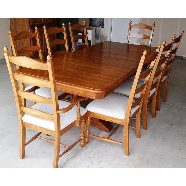 Kincaid Oak Wood Dining Set Chairish