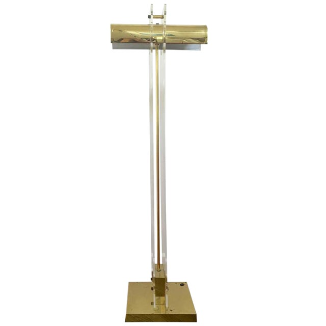 Pierre Cardin Style Brass and Lucite Floor Lamp - Image 1 of 7