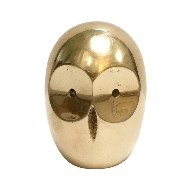 Vintage Modern Brass Owl Figure - Image 1 of 6