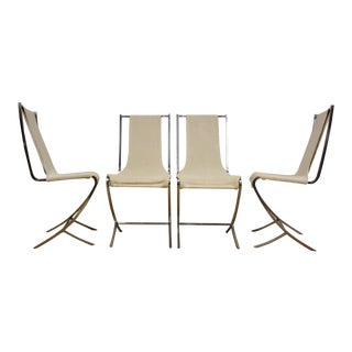 Pierre Cardin Chrome Sling Dining Chairs - Set of 4