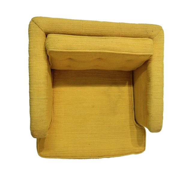 Yellow Mid-Century Club Chair - Image 5 of 8