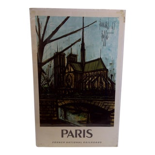 French National Railroad Print, Paris Circa 1967