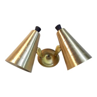 Ejs Co. Mid-Century Modern Pierced Cone Double Wall Sconce