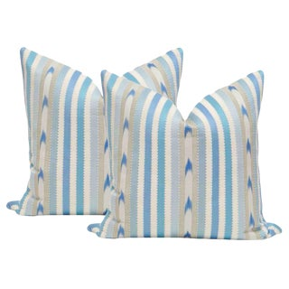 "22"" Nautical Stripe Pillows - a Pair"
