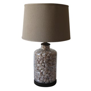 Vintage Coastal Shell Bottle Lamp
